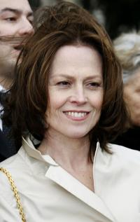 Sigourney Weaver at the Paris Fashion Week.