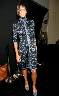 Veronica Webb at the Tracy Reese Spring 2008 Fashion Show during the Mercedes-Benz Fashion Week Spring.