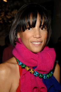 Veronica Webb at the cocktail party co-hosted with Donna Karan.