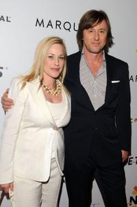 Patricia Arquette and Jake Weber at the NBC Universal Pre Super Bowl event.