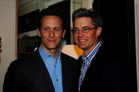 Steven Weber and Kyle MacLachlan at the opening of Greg Jordan's Los Angeles Studio and Shop.
