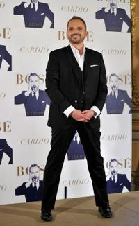 Miguel Bose at the launch of his new album