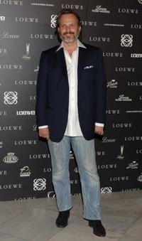 Miguel Bose at the 160th Anniversary Loewe dinner.
