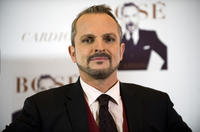 Miguel Bose at the presentation of his new album