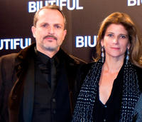 Miguel Bose and Guest at the Spain premiere of