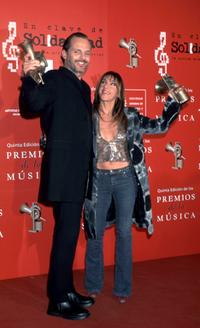 Miguel Bose and Ana Torroja at the fifth annual Spanish Music Awards.