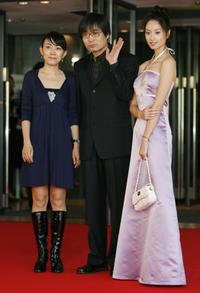 Li Wei, Director Li Jixian and Shen Jiani at the 20th Tokyo International Film Festival.