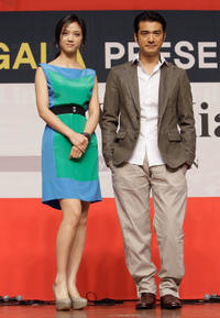 Tang Wei and Takeshi Kanashiro at the gala presentation of