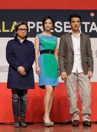 Peter Chan, Tang Wei and Takeshi Kanashiro at the gala presentation of