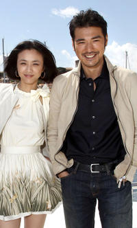 Tang Wei and Takeshi Kanashiro at the portrait session of