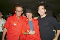 Peter Weller, Fisher Stevens and Matt Dillon at the 18th Annual Second Stage All-Star Bowling Classic.