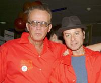 Peter Weller and Fisher Stevens at the 18th Annual Second Stage All-Star Bowling Classic.