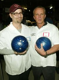 Terry Kinney and Peter Weller at the 17th Annual Second Stage All-Star Bowling Classic.