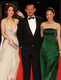 Kong Wei, Jiang Wen and Zhou Yun at the premiere of