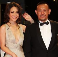 Kong Wei and Jiang Wen at the premiere of