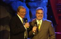 Adam West and Larry Jones at the 2006 TV Land and Nick at Nite Upfront.