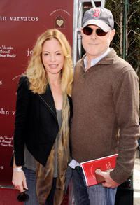 Chandra West and producer Mark Tinker at the red carpet of John Varvatos' 8th Annual Stuart House Benefit.