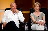 Corbin Bernsen and Chandra West at the 2008 Summer Television Critics Association Press Tour.