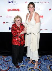 Dr. Ruth Westheimer and Lorraine Bracco at the Dress For Success