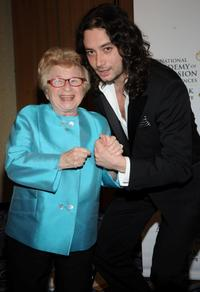 Dr. Ruth Westheimer and Constantine Maroulis at the 52nd Annual New York Emmy Awards gala.