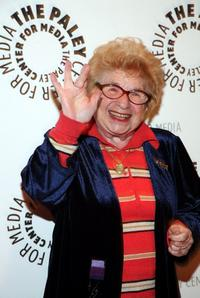 Dr. Ruth Westheimer at the She Made It: Women Creating Television and Radio event.