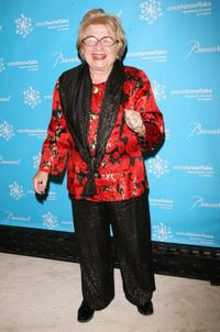 Dr. Ruth Westheimer at the Third Annual UNICEF Snowflake Ball.
