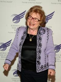 Dr. Ruth Westheimer at the American Theatre Wing Annual Spring Gala.