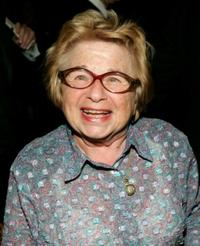 Dr. Ruth Westheimer at the opening night of