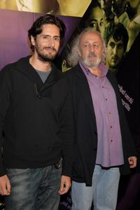 Juan Diego Botto and Montxo Armendariz at the premiere of