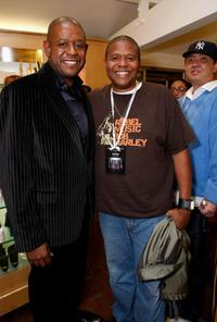 Forest Whitaker and Damon Whitaker at the Kissable Couture Lip Gloss launch.