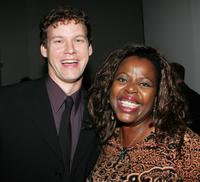 Kevin Earley and Lillias White at the party following the Actor's Fund S.T.A.G.E. Too Tribute: Hooray for Love.