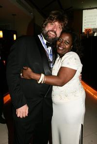 Oskar Eustis and Lillias White at the after party of