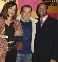 Wendie Malick, Rick Hoffman and Dondre Whitfield at the Season premiere party of