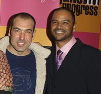 Rick Hoffman and Dondre Whitfield at the Season premiere party of