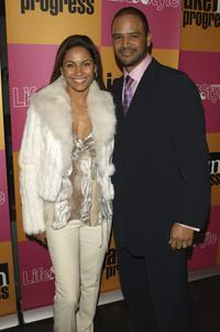 Salli Richardson-Whitfield and Dondre Whitfield at the Season premiere party of