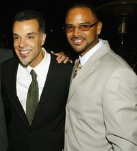 Director Charles Stone III and Dondre Whitfield at the after party of the premiere of