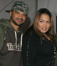 Dondre Whitfield and Kym Whitley at the press conference of