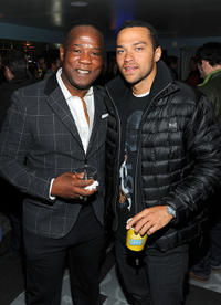 Isiah Whitlock, Jr. and Jesse Williams at the Cedar Rapids party in Utah.