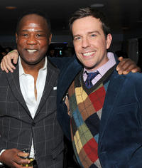Isiah Whitlock, Jr. and Ed Helms at the Cedar Rapids party in Utah.