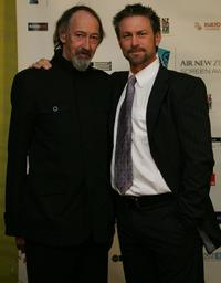 Frank Whitten and Grant Bowler at the Air New Zealand Screen Awards.