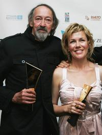 Frank Whitten and Robyn Malcolm at the Air New Zealand Screen Awards.