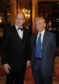 Prince Albert II and Elie Wiesel at the Gala Dinner Honouring Nobel Prize for Peace.