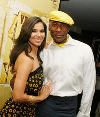 Roselyn Sanchez and Carlton Wilborn at the premiere of