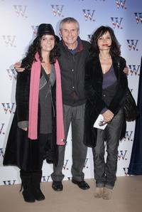 Salome Lelouch, director Claude Lelouch and Evelyne Bouix at the premiere of
