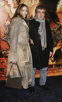 Michel Boujenah and Guest at the premiere of