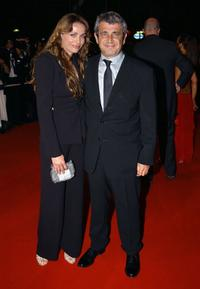 Michel Boujenah and his wife at the Palais des Festivals premiere of
