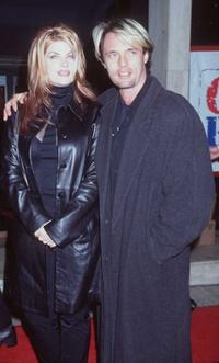 Kirstie Alley and James Wilder at the premiere of