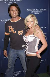 James Wilder and Colleen Sheridon at the AE Jeans Will Rock You Campaign.