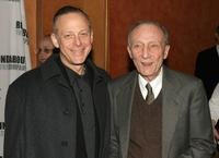 Tom Aldredge and Mark Blum attend the curtain call for the Roundabout Theatre Company's Broadway premiere of