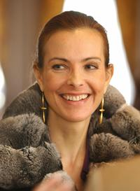 Carole Bouquet at the World Economic Forum.